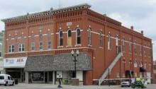 Corner buildings of historic square