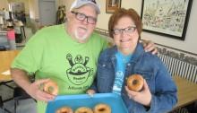 Randy & Phyllis Bunkers in their Bunkers Dunkers Bakery copy
