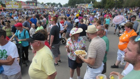 Big crowd at Iowa State Fair
