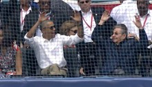 Obama & Castro doing the wave