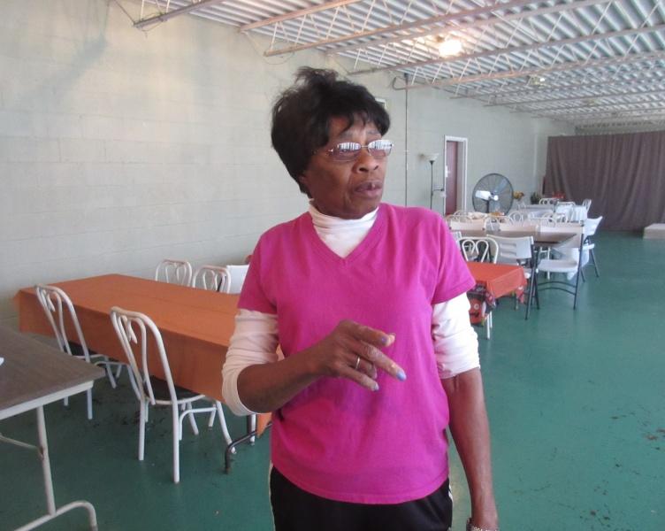 Clara Moore in the school big room.JPG