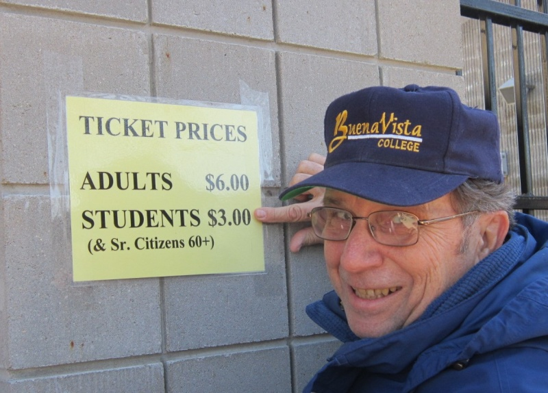Chuck O getting in cheap at BV football game.JPG