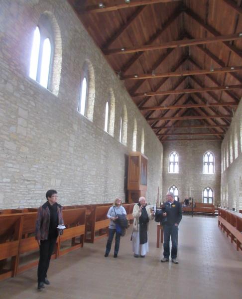 On walking tour of the church.JPG