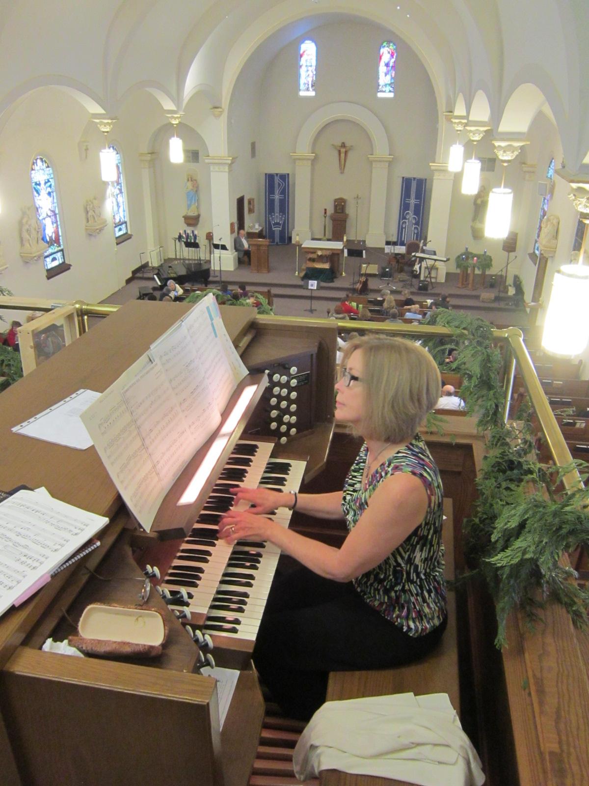 Rhena Lane On Organ 1.JPG