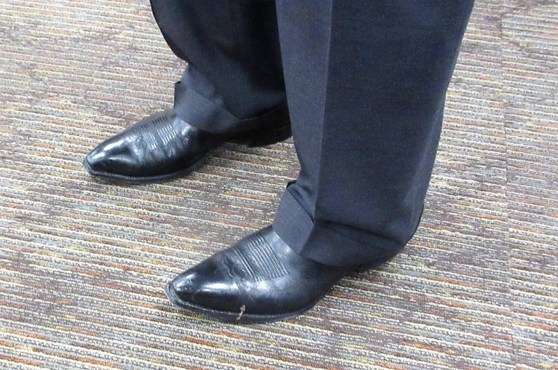 Tom Vilsack cowboy boots.JPG