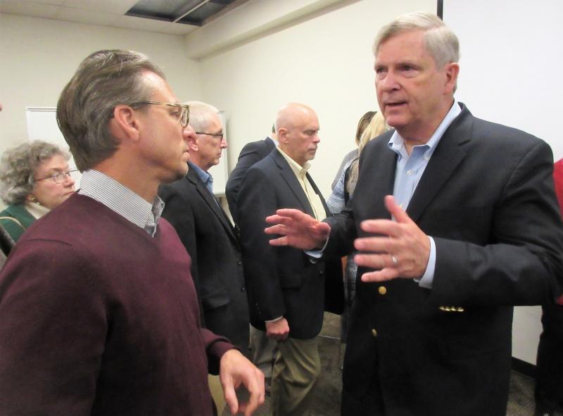 Tom Vilsack answerrs question from Lynn Hicks.JPG