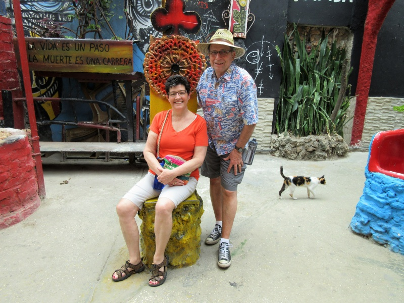 Carla & Chuck in Cuba art alley.JPG