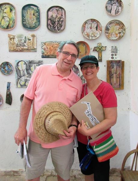 Chuck & Carla in art gallery Cuba.JPG