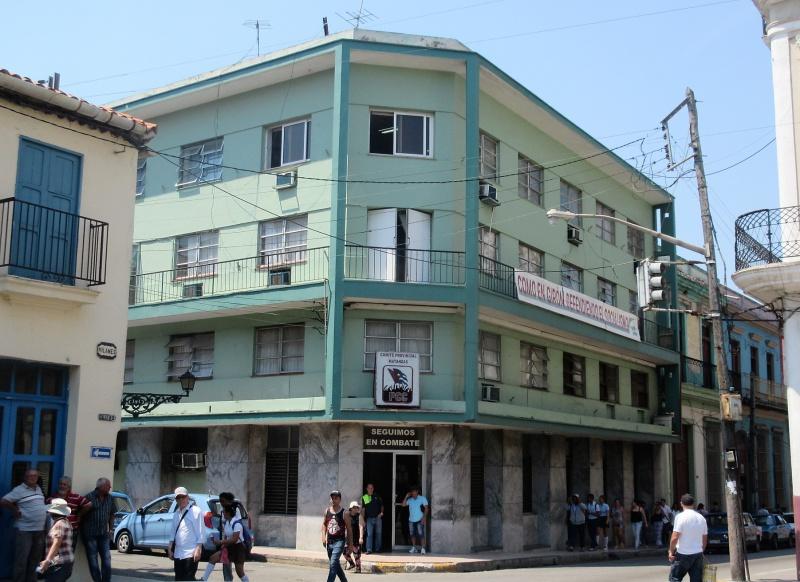 Provincial headquarters of Communist Party on corner of square in Matanzas.JPG