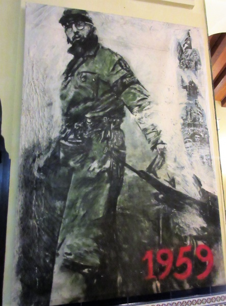 Fidel artwork hanging in Hotel Nacional.JPG