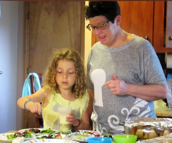 May Casey & Carla preparing salads.JPG