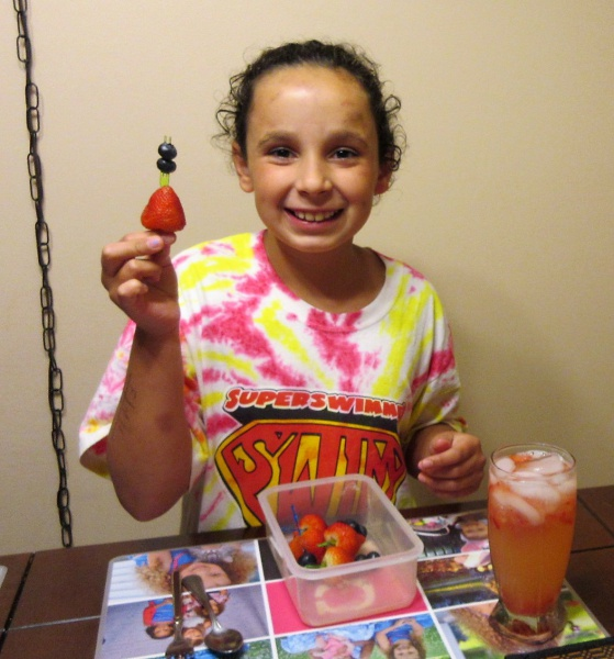 June Master Chef Junior Lindsay with fruit-loaded special lemonade.JPG