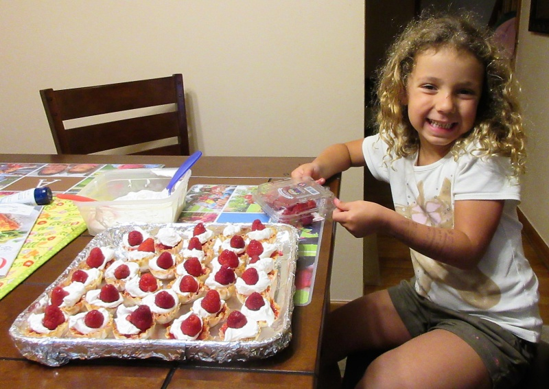 June Master Chef Junior Casey is happy with the dessert she created.JPG