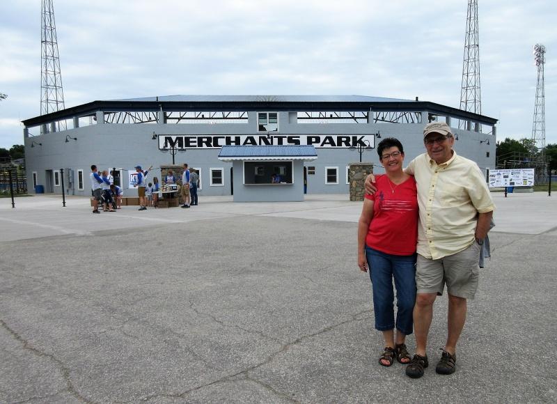 Carla & Chuck at Merchants Park in Carroll on June 17.JPG