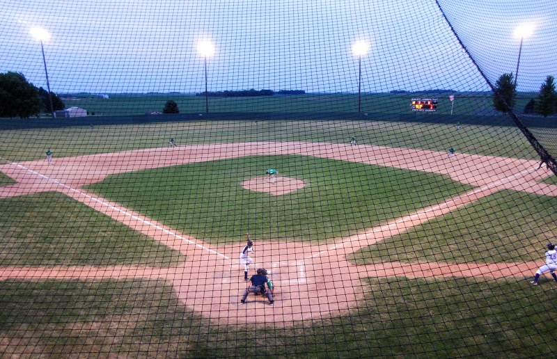 10 The view from the press box at Bancroft Memorial Park.JPG