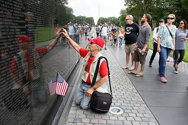 1 Don at Vietnam War memorial wall.jpg