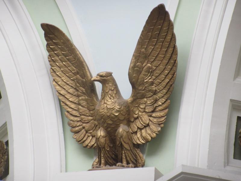 One of four eagles high up in rotunda Jan 26.JPG