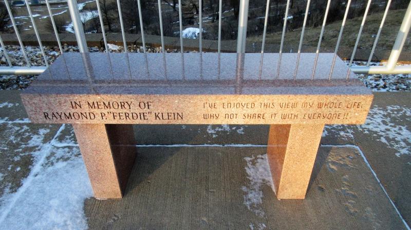 Ferdie's bench at Balltown overlook.JPG