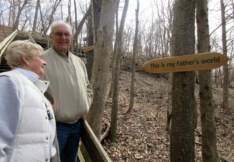 Ellen Corwin and Harold Haines with new plaques.JPG