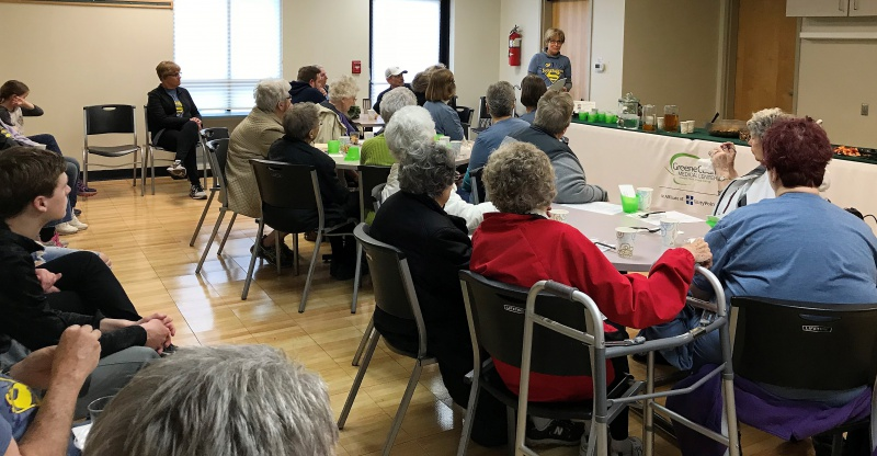 Lou Blanchfield speaks at Greene County Relay for Life reception.jpg