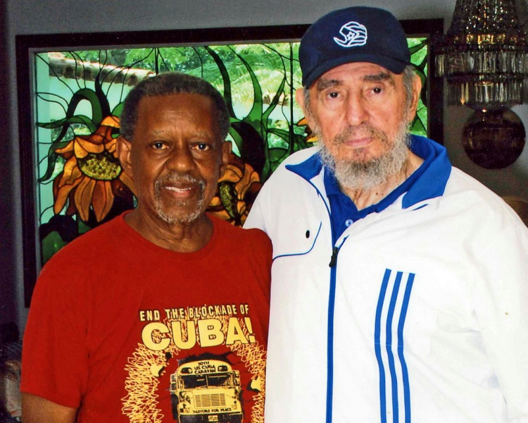 Rev. Lucius Walker & Fidel Castro in Havana in 2009 PFP.jpg