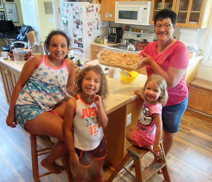 Carla and granddaughters Master Chef Juniors July 15.JPG