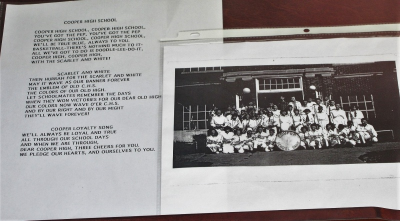 Cooper School Band with trilogy of fight songs.JPG
