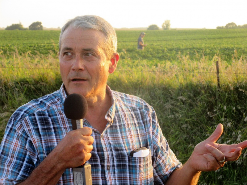 Scott Shriver talking soybean planting times.JPG
