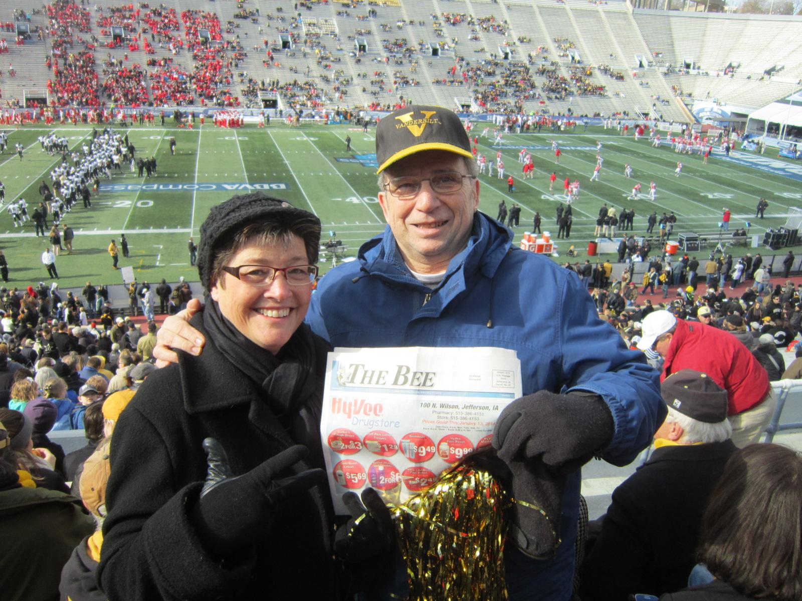 Carla & Chuck Offenburger Legion Field Birmingham AL.JPG