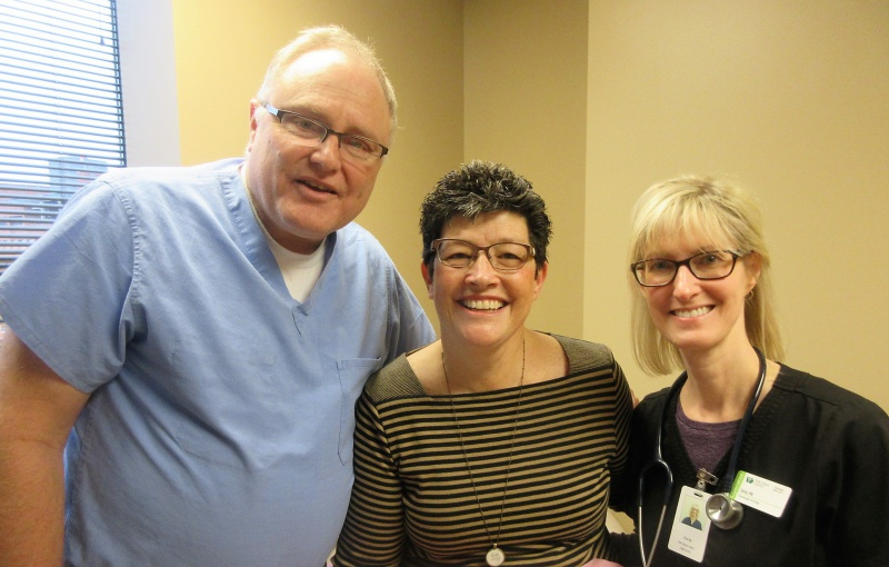 Dr. Steven Elg, Carla O & nurse Darla on Oct 9 2018.JPG