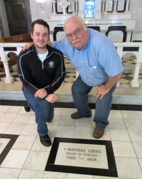 Andrew & Mark Wampler crypt of Bishop Loras.JPG
