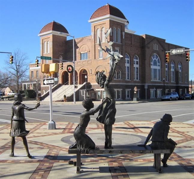 Sixteenth Street Baptist Church With Sculpture.JPG
