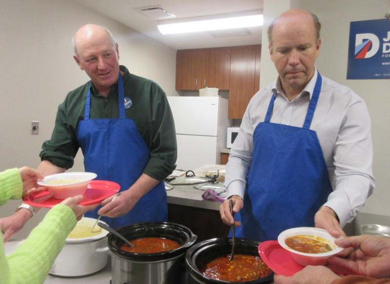 Mike Minnehan & John Delaney serving soup.JPG