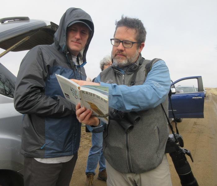 Jim Teusch & Matt Wetrich checking a bird ID.JPG