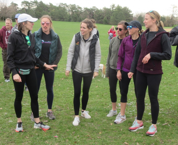 Gabe's Girls get the runners started.JPG
