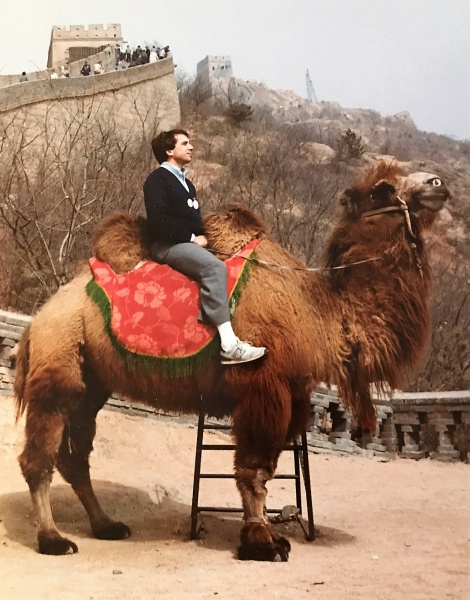 Chuck O on camel at Great Wall photo by Rays 1984.JPG