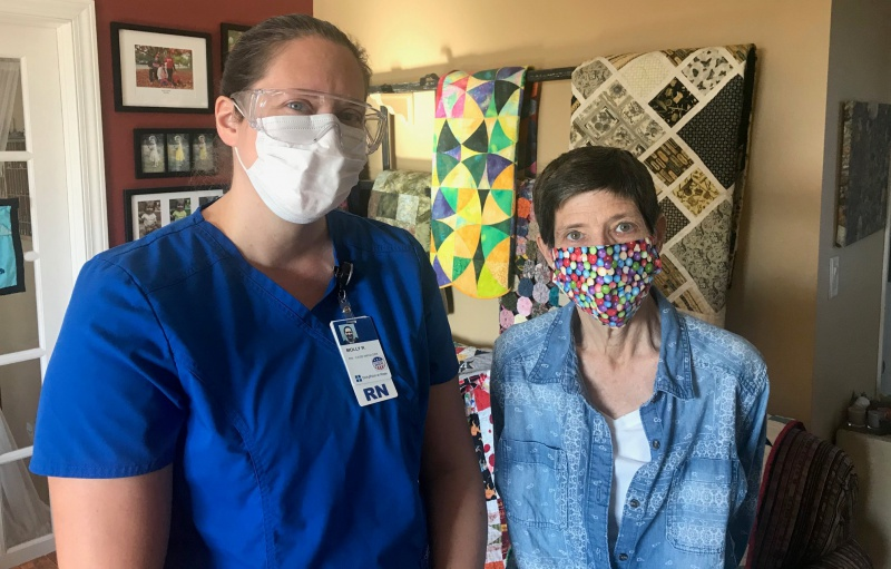 Hospice nurse Molly Ritter & Carla Oct 27.jpg