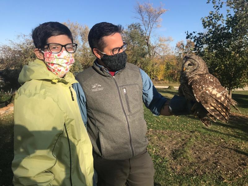 Carla Matt and barred owl in October.jpg
