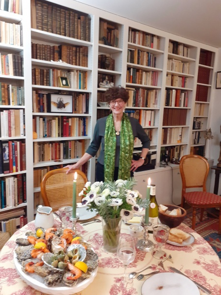 Harriet ready for recent 75th birthday dinner.jpg