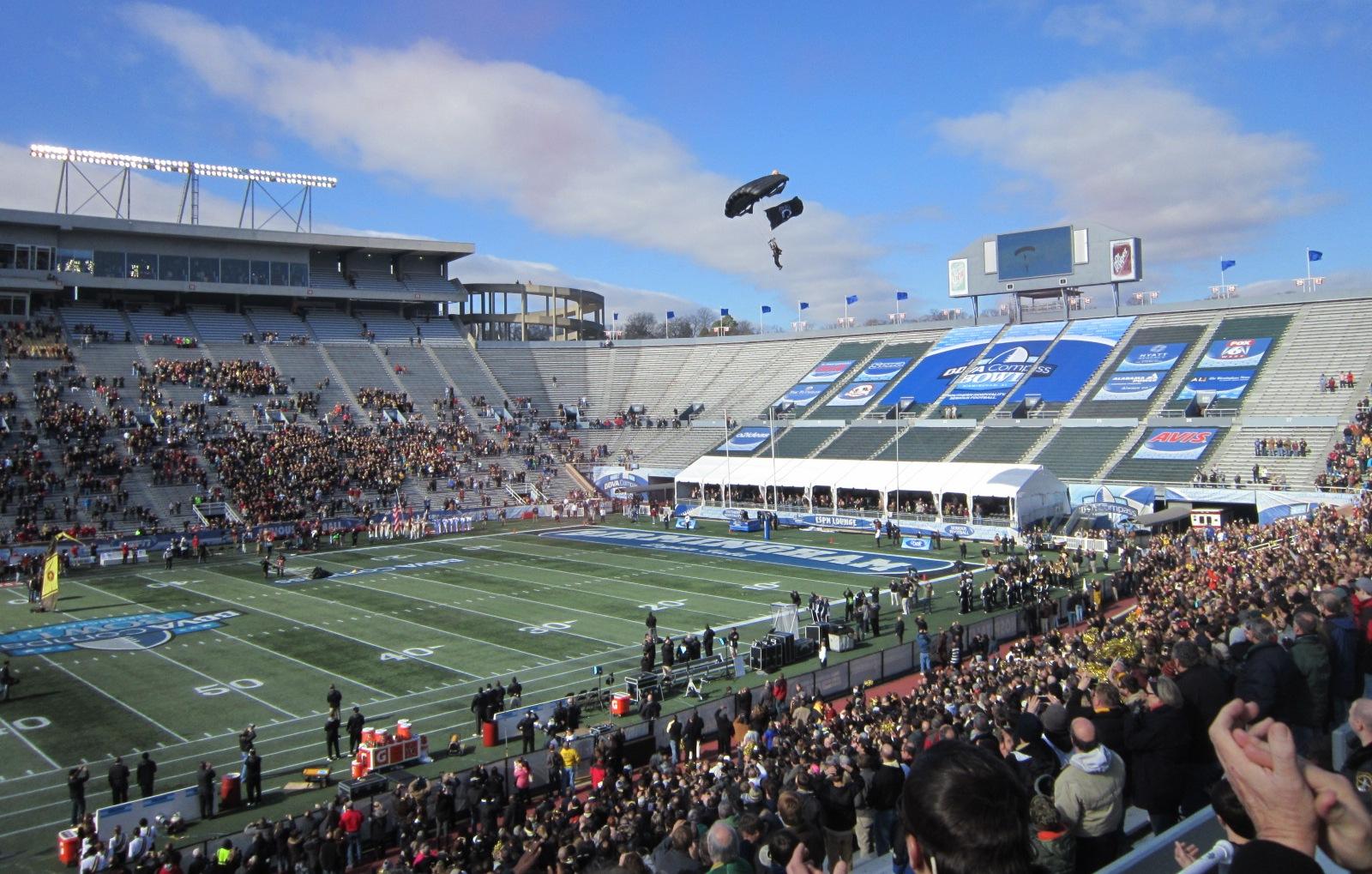 Skydiver Bringing In Game Ball.JPG