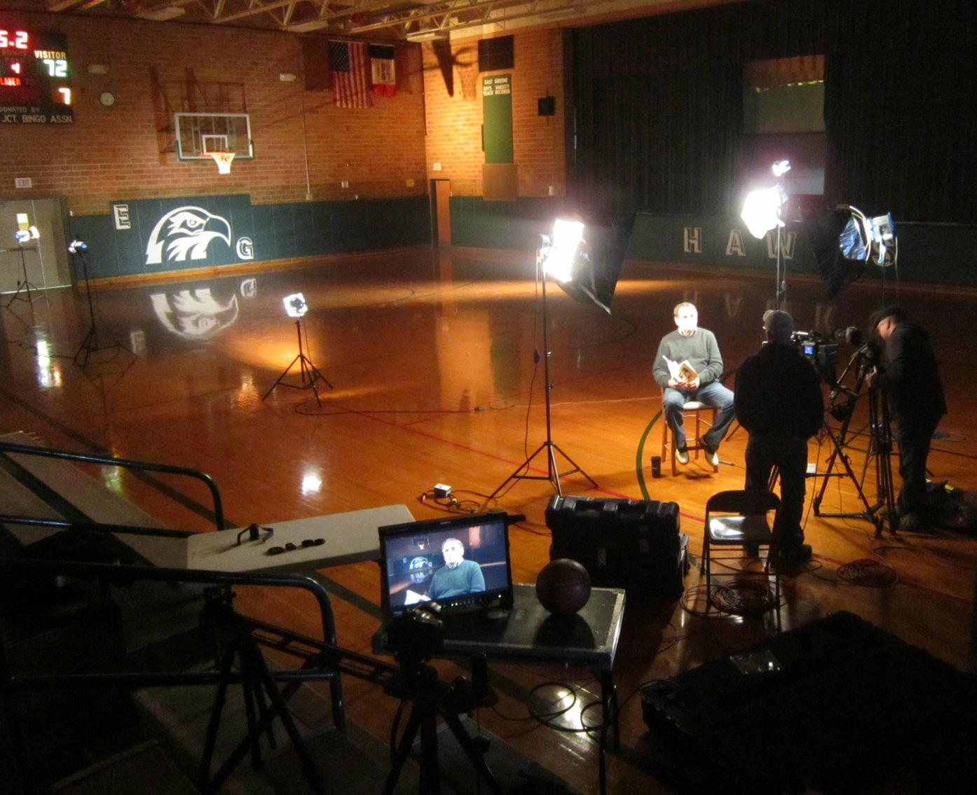 Chuck O taping for IPTV 1.JPG