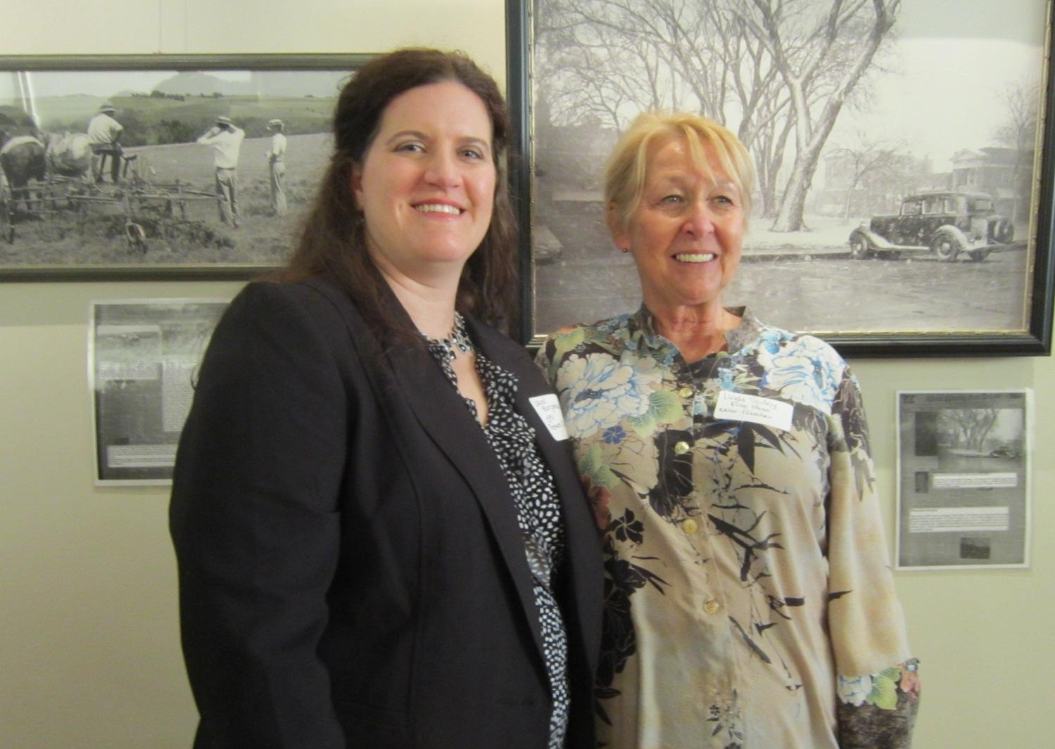 Laurel Bower Burgmaier & Linda Sidey.JPG