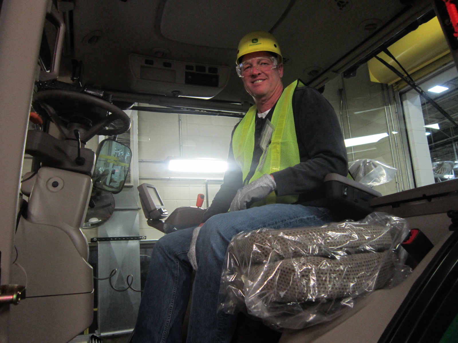 Doug Lawton In Cab Just Assembled.JPG