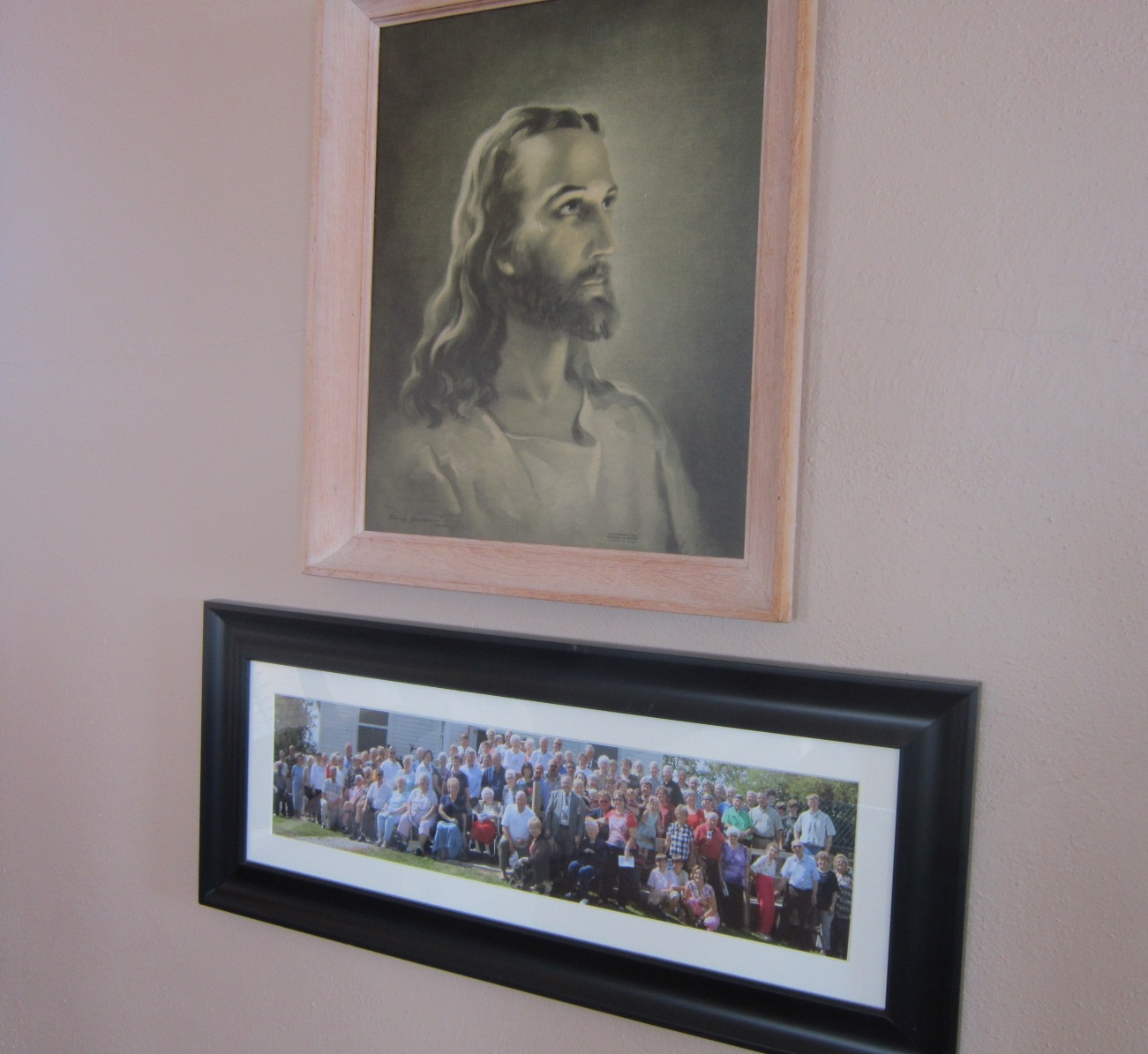 10 Christ & photo from 150th anniversary service.JPG