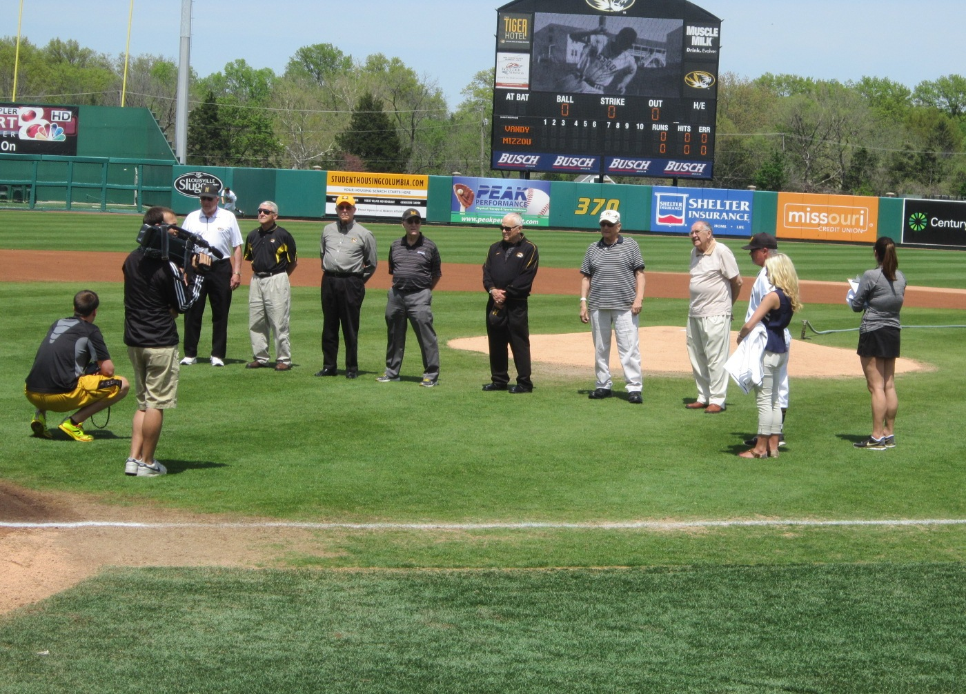 9 Mizzou 1954 CWS Champs being honored.JPG