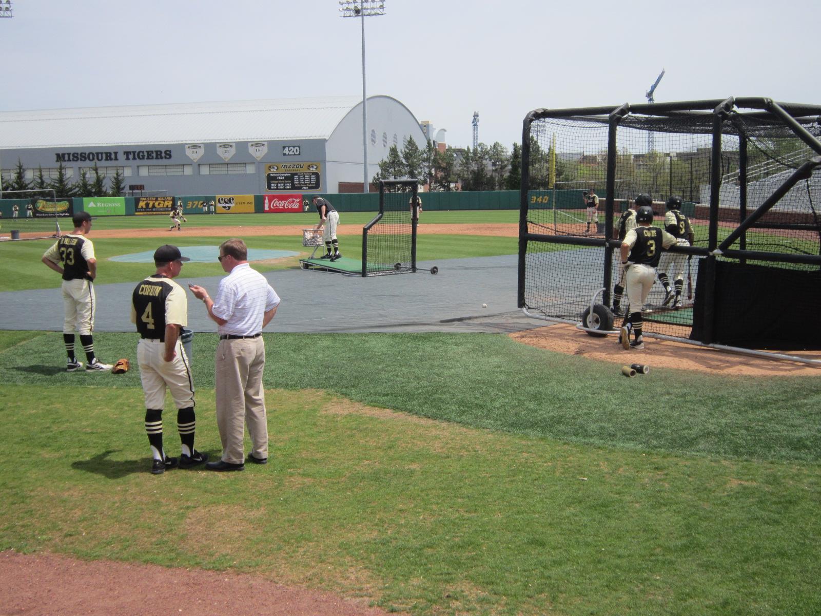 4 Interview during batting practice.JPG