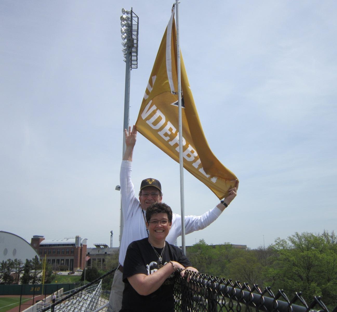 3 Chuck & Carla with Vanderbilt flag at Mizzou.JPG
