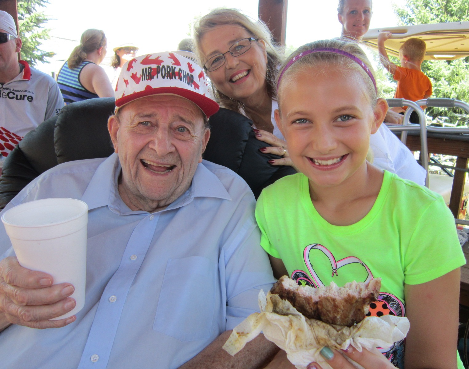 Mr. Pork Chop & great-granddaughter Anna July 22 A.JPG
