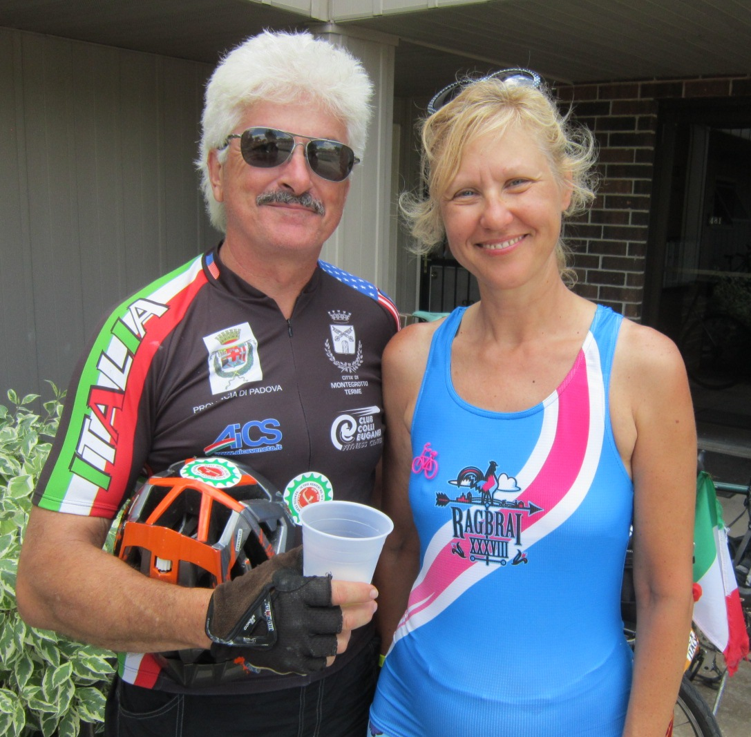 Mike LaValle & Alessandra Tormene in Clear Lake July 23.JPG