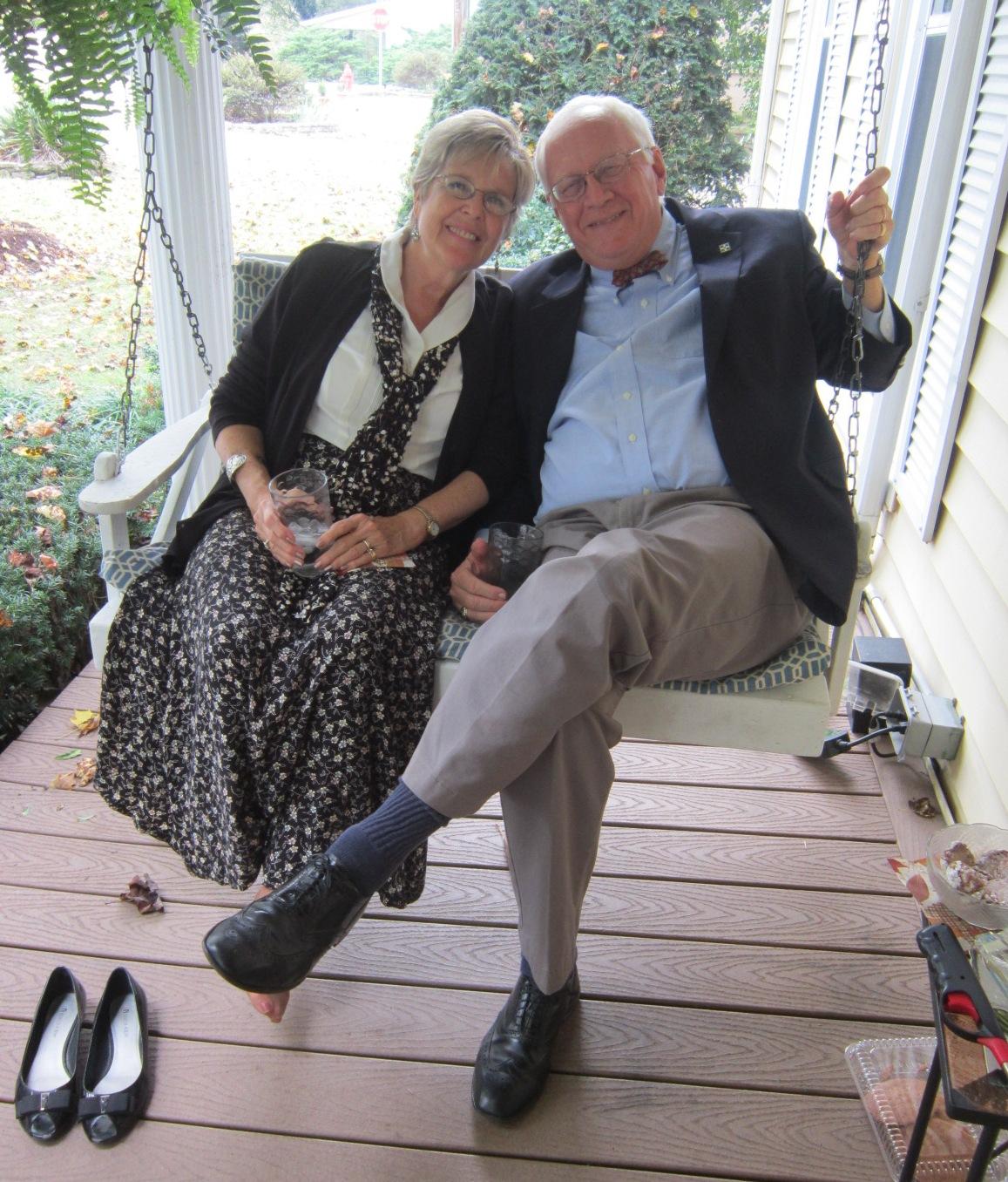 Molly & Doug Bates on the swing.JPG